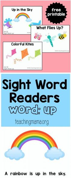 Sight Word Readers | Pinterest | Sight word readers, Free and ...