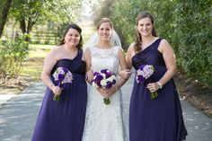 Purple Bridesmaids Dresses and Bouquets at Ashelynn Manor