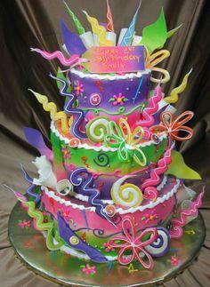 Funky fun birthday cake