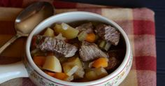 Apple Cider Beef Stew is a delicious twist on a homemade classic. Filled with potatoes, carrots, and melt-in-your-mouth beef, this dish is slow-cooker heaven.