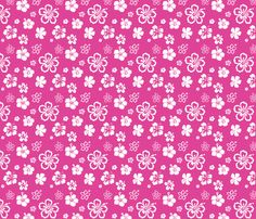 Pink Beauty Fashionista Makeup Stylish Girly Fabric Printed by Spoonflower BTY