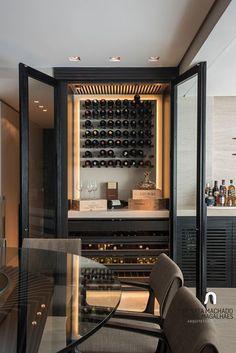 new ideas home bar designs cabinets wine storage Diy Home Bar, Bars For Home, Diy Bar, Home Wine Bar, Modern Home Bar, Modern Living, Küchen Design, Interior Design, Design Ideas