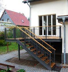 Terrasse KW   Stahlblau