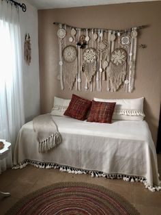 56 newest master bedroom ideas for wonderful home 16 - Decoration Ideas Dream Catcher Bedroom, Doily Dream Catchers, Dream Catcher Craft, Dream Catcher Boho, Master Bedroom, Bedroom Decor, Bedroom Ideas, Homemade Bedroom, New Room