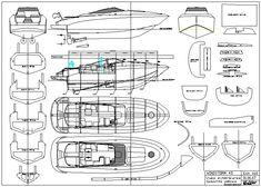 Plans en ligne / on line plans - Plans bateaux modelisme Jet Ski, Make A Boat, Build Your Own Boat, Model Ship Building, Boat Building, Speed Boats, Power Boats, Rc Boot, Runabout Boat