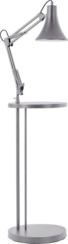 Lampa podłogowa ze stolikiem Grulla ciemnoszara - Lampy - Artykuły Dekoracyjne - [M] - VOX