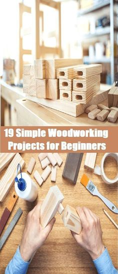 Are you a beginner in woodworking? Checkout below these 19 simple woodworking projects for beginners you can build without complete workshop. #WoodworkingProjects
