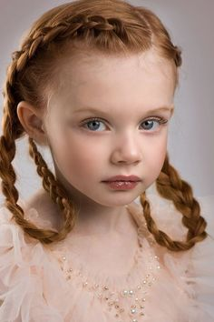 Ginger Girl Pre Teen Bright Redhead Freckles On