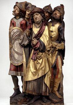 Tilman Riemenschneider, Hohepriester Kaiphas mit vier Kriegsknechten (ca. 1485-90, Bayerisches Nationalmuseum, München)