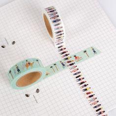 10 Rollen Schwarz Weiß Klebeband Washi Tape Reispapier Paper  1.5cm*10m  heiß!