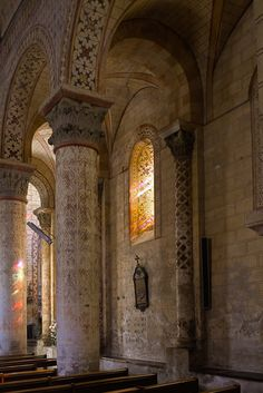 """Fiant aures tuæ intendentes in vocem deprecationis meæ."""" Psalm 130 """"Out of the depths have I cried unto thee, O Lord. Psalm 130, Romanesque Art, Carolingian, Clermont Ferrand, Church Architecture, Rhone, Kirchen, Medieval, Photos"""