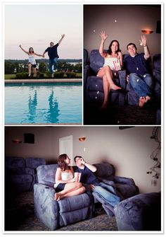 Janelle and Dom Engagement Session in Chesapeake City featured on Borrowed & Bleu; www.kateslens.com