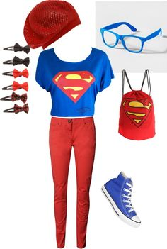 """Superman"" by lovin-fashion ❤ liked on Polyvore"