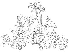 Basket of fruit embroidery