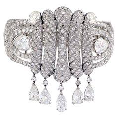 PAUL FLATO An Important Diamond Bangle .Circa 1930s