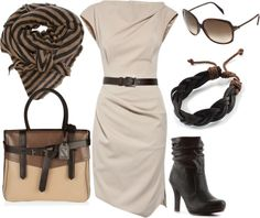 """brown, beige, and caramel"" by lulums ❤ liked on Polyvore"