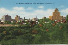 Old San Diego postcard 1930's. Hagins collection.