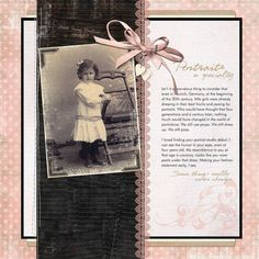 Portraits a Specialty...this simple digi page puts the focus on the photo and journaling.