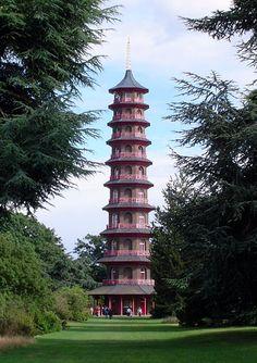 Londres: la pagode de Kew Gardens.