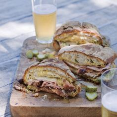 This cubano sandwich recipe includes the usual ingredients like ham, swiss cheese, and pickles, but also features pork marinated in a tangy mojo sauce.