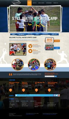 Still Water Sports Camp website design - a 2013 Bronze Addy winner!