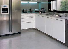 Concrete kitchen, cocina cemento alisado
