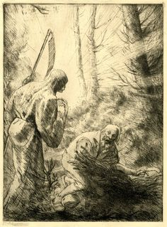 Alphonse Legros, Death and the woodcutter (La Mort et le Bûcheron)