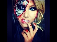 terminator inspired makeup tutorial Other eye toi Terminator Makeup, Terminator Costume, Sfx Makeup, Costume Makeup, Makeup Art, Makeup Ideas, Halloween 2014, Halloween Party, Halloween Stuff