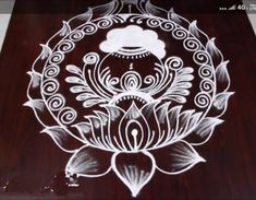 Indian Rangoli Designs, Simple Rangoli Designs Images, Rangoli Designs Latest, Rangoli Designs Flower, Rangoli Border Designs, Small Rangoli Design, Rangoli Designs With Dots, Beautiful Rangoli Designs, Rangoli Borders