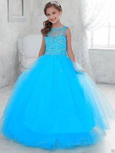 Party Prom Birthday Dress Tulle Flower Girl Kid Pageant Dance Ball Gown Princess in Clothing, Shoes & Accessories, Kids' Clothing, Shoes & Accs, Girls' Clothing (Sizes 4 & Up) Tulle Flower Girl, Princess Flower Girl Dresses, Princess Dress Kids, Little Girl Dresses, Princess Party, Princess Dress Patterns, Flower Girls, Pagent Dresses, Girls Pageant Dresses