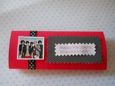 One Direction Personalized Candy Bar Wrappers - Set of 8. $8.00, via Etsy.