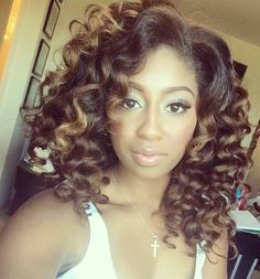 Courtney Danielle spiral curls on natural hair