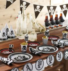 Pirate Party birthday table set up!