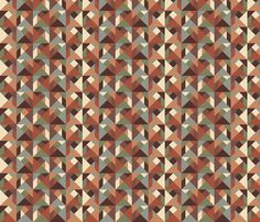 Tangram Tiles Earth Tones fabric by dunnspun on Spoonflower - custom fabric