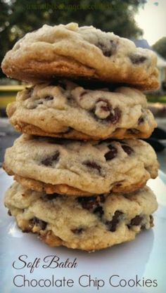 25 Rockin' Chocolate Chip Cookie Recipes - Gaze upon drool-worthy chocolate chip cookies, that maybe, will inspire you to bake chocolate chip cookies. The smell of freshly baked chocolate chip cookies Perfect Chocolate Chip Cookies, Chocolate Cookie Recipes, Easy Cookie Recipes, Baking Recipes, Baking Chocolate, Chocolate Chocolate, Soft Cookie Recipe, Soft Batch Chocolate Chip Cookie Recipe, Baking Ideas