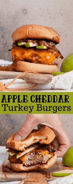 Colder weather isn't so bad when it means food this good. Whip up these Fall Apple Turkey Burgers for a meal that uses all of the delicious flavors of the season! Best Turkey Burgers, Turkey Burger Recipes, Ground Turkey Recipes, Turkey Seasoning, Healthy Eating, Healthy Food, Healthy Dinner Recipes, Gluten Free, Dairy Free