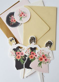 Will You Be My Bridesmaid Cards (by The First Snow via EmmalineBride.com)