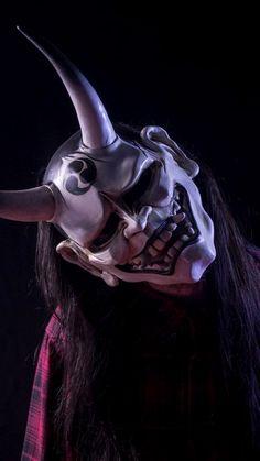 Mascara Hannya, Raijin Tattoo, Princesas Disney Zombie, Japanese Demon Mask, Art Vampire, Oni Demon, Samurai Artwork, Airsoft Mask, Mask Tattoo