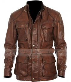 Brad Pitt Panther Benjamin Button Leather Jacket for Motorcycle Riders Classic Leather Jacket, Men's Leather Jacket, Shearling Jacket, Military Fashion, Mens Fashion, Military Style, Pitt Panthers, Leather Jackets For Sale, Men's Wardrobe