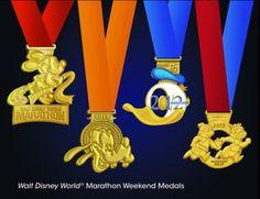 Disney Marathon medals 2012