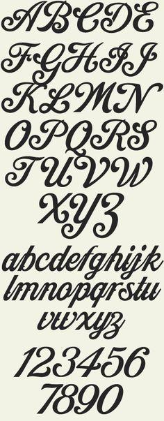 Letterhead Fonts / Indian Script / upper & lower case alphabet & numbers