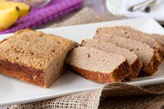 Grain free Banana Bread     Ingredients    Wet    4 eggs  3/4 cup mashed banana (2-3 fresh or frozen bananas)  1/4 cup coconut oil, melted  1/4 cup non-dairy milk  2 tbsp unpasteurized honey  1/2 tsp pure vanilla extract  Dry    1/2 cup coconut flour  1 tsp ground cinnamon  1/2 tsp gluten-free baking soda