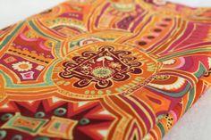 Patchwork Orange Aboriginal Design Fabric by EmbellishByAndrea, $5.00