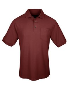 Mens Cotton Pique Pocketed Double Stitched Golf Shirt.  Tri mountain 169 #GolfShirt #Trimountain  #formen
