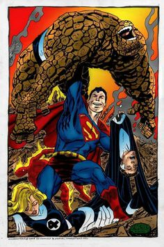 Superman vs fantastic 4