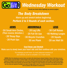 ‪#‎WednesdayWorkout‬ Leave no muscle unturned with the Body Breakdown workout! ‪#‎totalbodytraining‬ ‪#‎noequipmentnecessary‬ #noexcuses