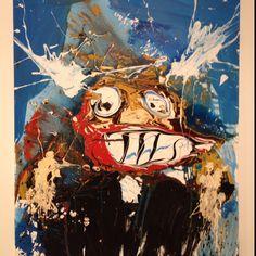 Jose Moñu painting. Contemporary artist from Saragossa.