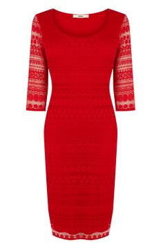 Lace Tube Dress | Red | Oasis Stores £10