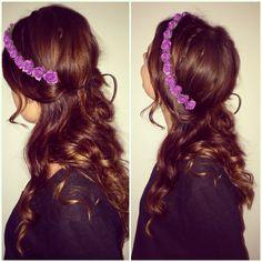 Purple flowercrown  @flowerpowerbyfelicia