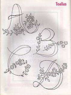Alfabetos para Bordar...A B C D /ticlane/04-printables/ get back